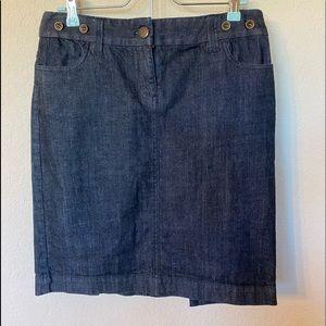 Dark Blue J.Crew Pencil Skirt